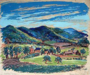 Print by Marion Huse: Pownal Valley, represented by Childs Gallery