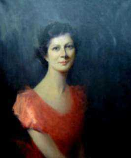 Painting by Marion Patten: A Jewel [Portrait of Miss Norma Nasmyth, Cypress Street Broo, represented by Childs Gallery