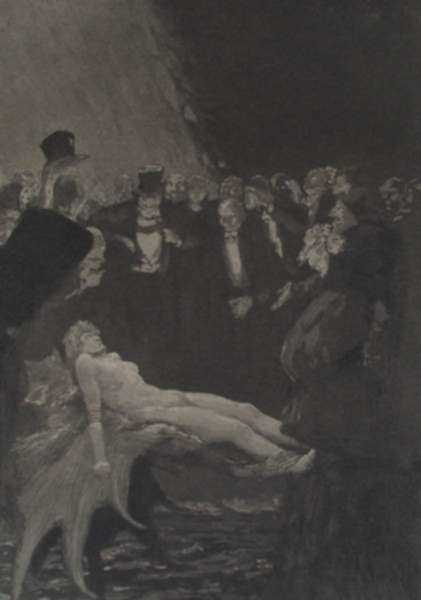 Print by Max Klinger: Gefesselt, represented by Childs Gallery