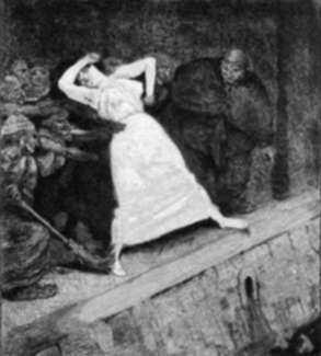 Print by Max Klinger: In Die Gosse, represented by Childs Gallery