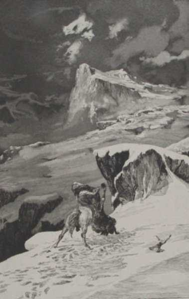 Print by Max Klinger: Kampfende Centauren, represented by Childs Gallery