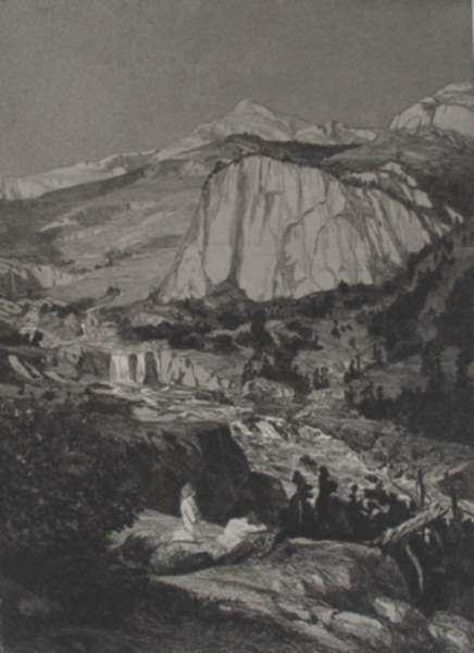 Print by Max Klinger: Mondnacht, represented by Childs Gallery