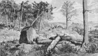 Print by Max Klinger: Simplicius in der Waldeinöde, represented by Childs Gallery