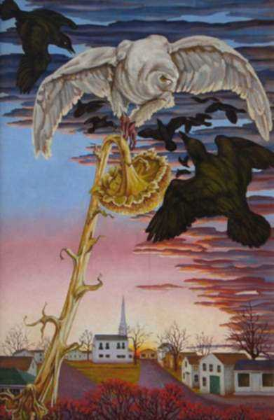 Painting by Molly Luce: Dawn on Commons, represented by Childs Gallery