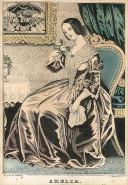 Print by Nathaniel Currier: Amelia, represented by Childs Gallery
