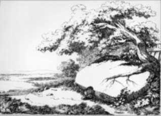 Print by Nicolas Toussaint Charlet: Paysage, represented by Childs Gallery