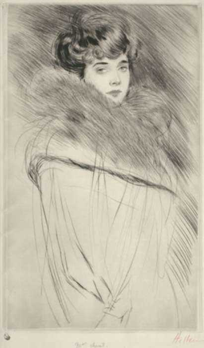 Print by Paul César Helleu: Madame Chéruit, represented by Childs Gallery