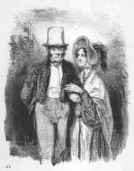 Print by Paul Gavarni: Mon cher Mosieu Jalury (My dear Mr. Jalury), represented by Childs Gallery