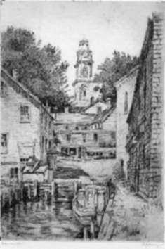 Print by Paul Lameyer: Camden, Maine, represented by Childs Gallery