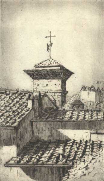 Print by Paul Lameyer: Florence [Italy], represented by Childs Gallery