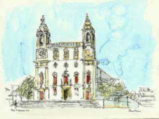 Watercolor by Paul Parker: Faro, Portugal, represented by Childs Gallery