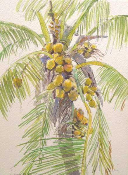 Watercolor by Paul Parker: Key West, Florida, represented by Childs Gallery