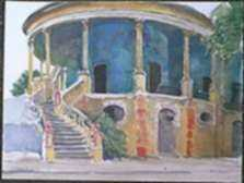 Watercolor by Paul Parker: Merida, Mexico, represented by Childs Gallery