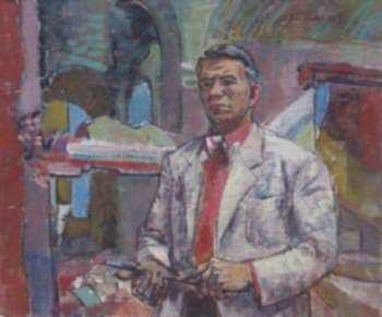 Painting by Paul Parker: Self Portrait, represented by Childs Gallery