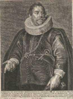 Print by Peter De Jode: D. Joannes de Mentfort, represented by Childs Gallery