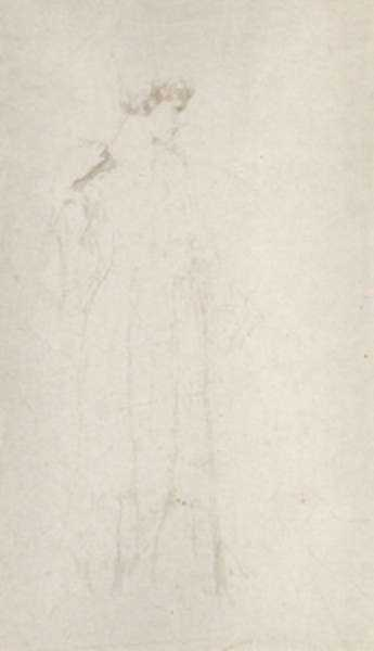 Drawing by Philip Leslie Hale: Study of a Woman, represented by Childs Gallery