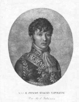 Print by Pietro Cardelli: S. A. I. Il Principe Eugenio Napoleone [Prince Eugene de Bea, represented by Childs Gallery