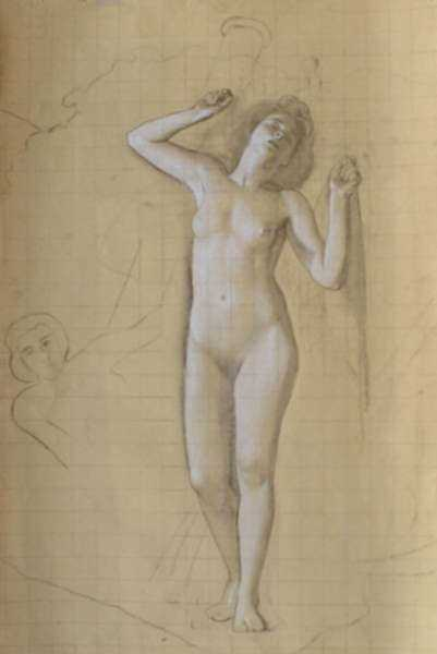 Drawing by R.H. Ives Gammell: [Venus Rising], Study for The Hound of the Heavens, Panel XI, represented by Childs Gallery