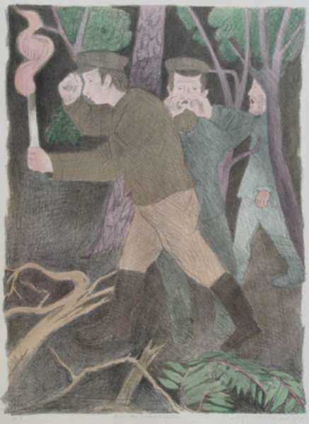 Print by Raphael Soyer: From the Cracked Mirror, represented by Childs Gallery