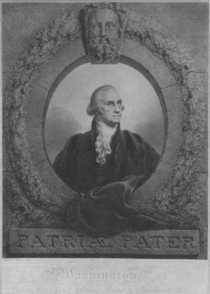 Print by Rembrandt Peale: Patriae Pater (Father of His Country) (George Washington) (T, represented by Childs Gallery
