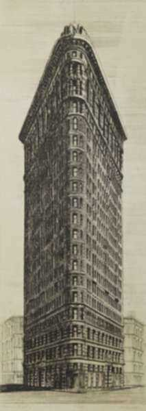 Print by Richard Haas: Flatiron Building, [New York City], represented by Childs Gallery