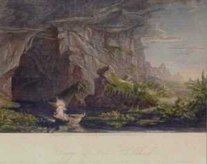 Print by Robert, and M. Ensing Muller Hinshelwood: Voyage of Life, Childhood [after Thomas Cole, American (1801, represented by Childs Gallery