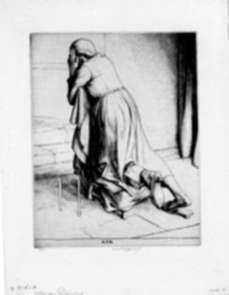 Print by Robert Austin: Woman Praying, represented by Childs Gallery