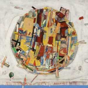 Mixed media by Robert S. Neuman: Pedazos del Mundo #19, represented by Childs Gallery