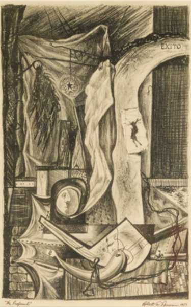 Print by Robert S. Neuman: The Profound, represented by Childs Gallery