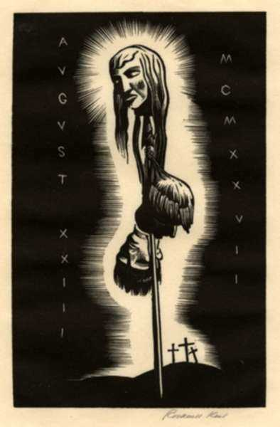 Print by Rockwell Kent: August XXIII, MCMXXVII, represented by Childs Gallery
