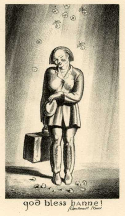 Print by Rockwell Kent: God Bless Hanne!, represented by Childs Gallery