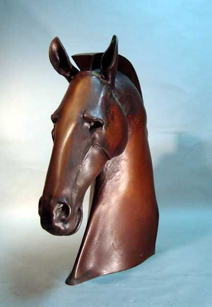 Sculpture By Roger Arvid Anderson: Bucephalus At Childs Gallery