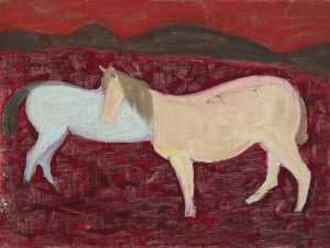 By Sally Michel: [horses] At Childs Gallery