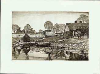 Print by Samuel Chamberlain: Saugus Ironworks [Massachusetts], represented by Childs Gallery