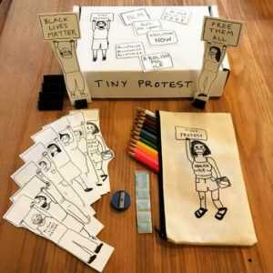 Mixed Media By Sara Zielinski: Tiny Protest Box At Childs Gallery