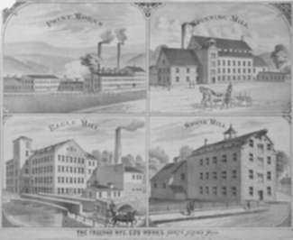 Print by Sarony, Major and Knapp: The Freeman Mfc. Co's Works. North Adams Mass. [Massachusett, represented by Childs Gallery
