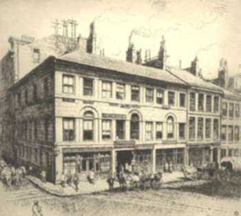 Print by Sears Gallagher: Union Bank [Boston, Massachusetts], represented by Childs Gallery
