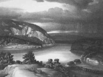 Print by Stow Wengenroth: Hudson River (Storm) [near West Point, New York], represented by Childs Gallery