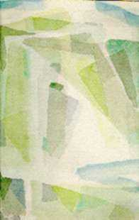 Watercolor by Ted Davis: Abstract Composition, Monhegan, Maine, represented by Childs Gallery