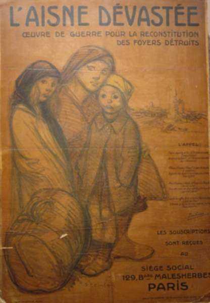 Print by Théophile Alexandre Steinlen: L'Aisne Dévastée, represented by Childs Gallery