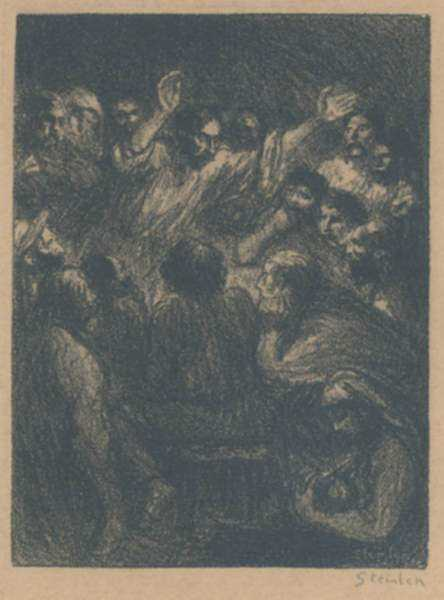 Print by Théophile Alexandre Steinlen: L'Apôtre (The Apostle), represented by Childs Gallery