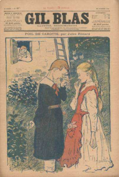 "Print by Théophile Alexandre Steinlen: Poil de Carotte, from ""Gil Blas"", represented by Childs Gallery"