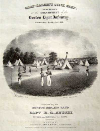 Print by Thayer's Lithography: Camp Sargeant Quickstep [A Songbook], represented by Childs Gallery