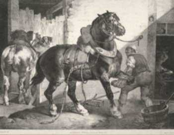 Print by Theodore Gericault: Le Marcéchal Français, represented by Childs Gallery