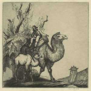 Print by Thomas Handforth: Pekin Camels, represented by Childs Gallery