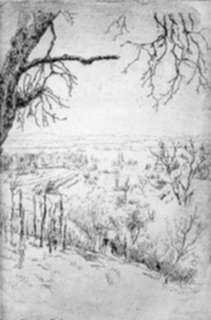 Print by Valer Ferenczy: From Nagybanya [Hungary?], represented by Childs Gallery