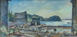 Painting by W. Lester Stevens: Ebb Tide, represented by Childs Gallery