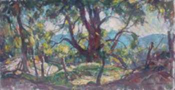 Painting by W. Lester Stevens: Oh Spring Where Art Thou?, represented by Childs Gallery