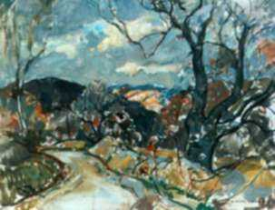 Painting by W. Lester Stevens: The Last of Summer, represented by Childs Gallery