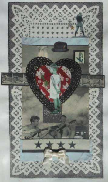 Collage by W. Perry Barton: Four Stars, represented by Childs Gallery